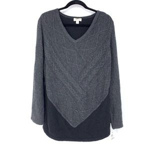 Style & Co Sz 1X Pullover Colorblock Sweater